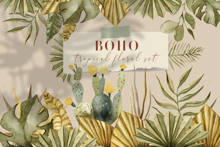 BOHO tropical floral set