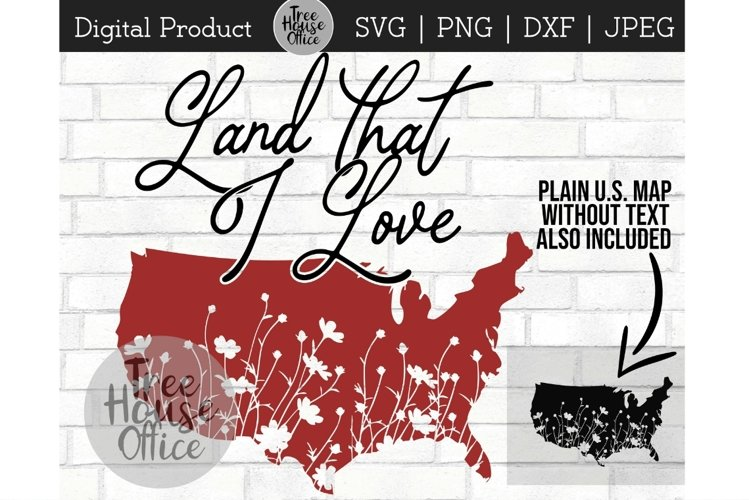 United States Svg, Land That I Love, America Sublimation PNG