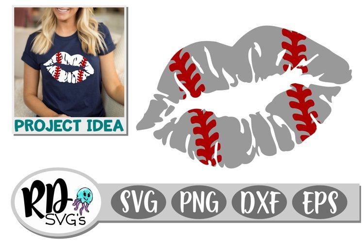 Baseball Lips - A Sports Cricut Cut File