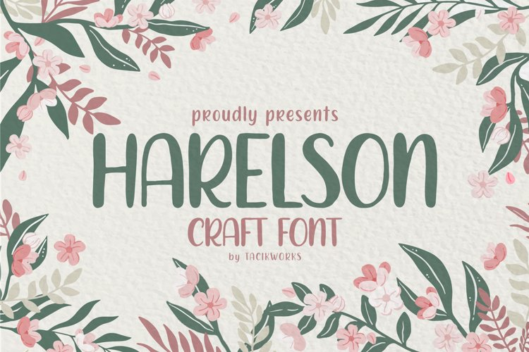 Harelson Craft Font example image 1