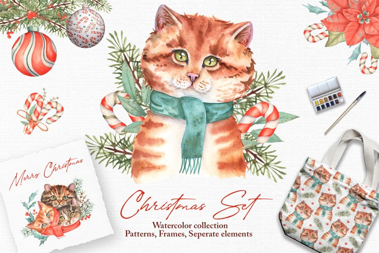Watercolor Christmas Set example image 1