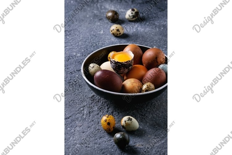 Brown colored easter eggs example image 1