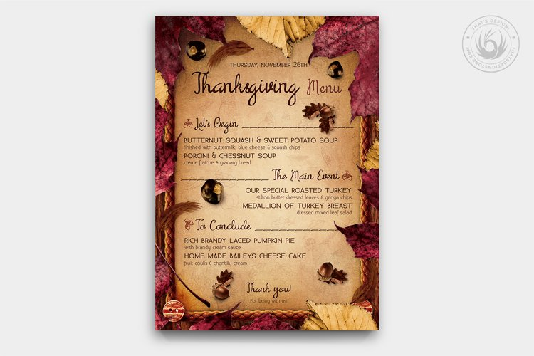 Thanksgiving Menu Template V3 example image 1