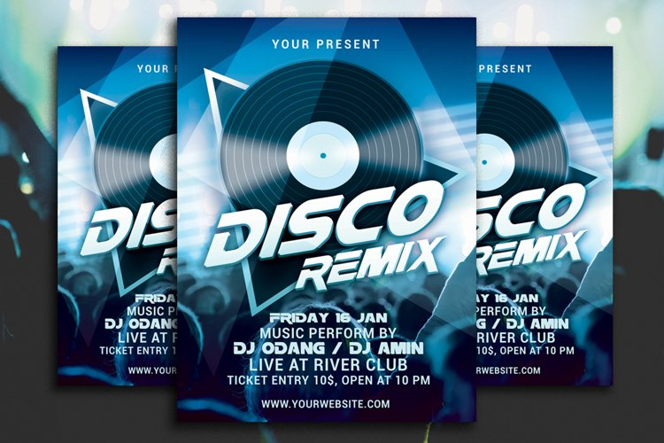 Disco Remix Party Flyer example image 1