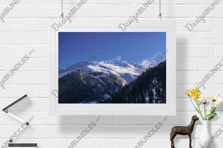 Snow Mountains - Wall Art - Digital Print example image 1