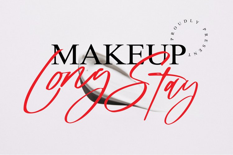 long stay handwritten font example image 1