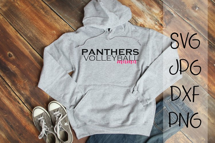 Panthers Volleyball Mama, A Volleyball SVG example image 1