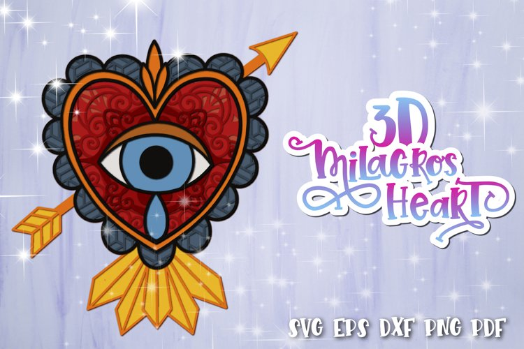 3D Heart svg Layered Milagros hearts 02 SVG