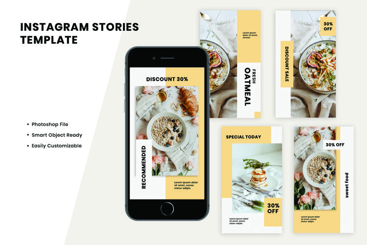 Oatmeal Instagram Stories Template