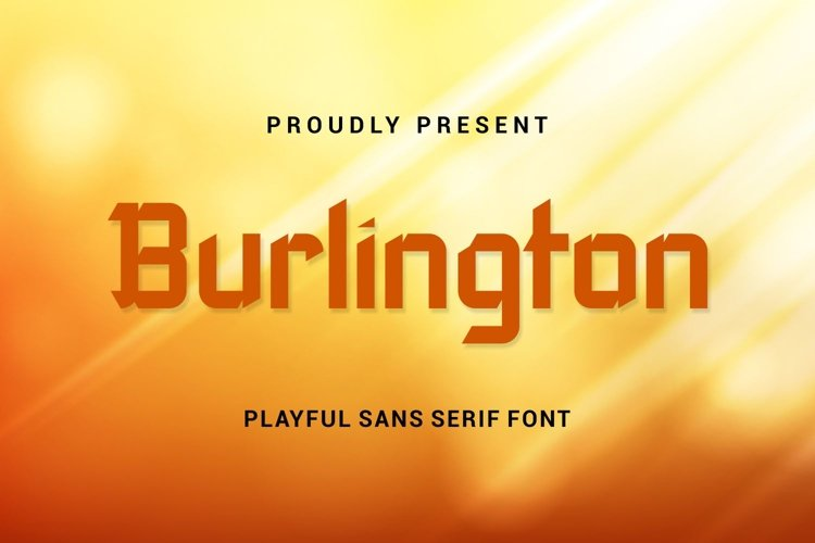 Burlington - Playful Sans Serif Font example image 1