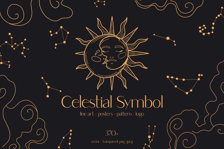 Celestial Symbols Collection Sun Moon Star