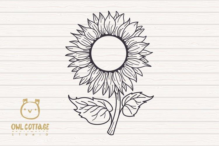 Sunflower Monograms svg, Sunflower mini bundle, Sunflower cl - Free Design of The Week Design6