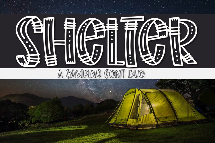 Shelter - A Fun Adventurer's Font Duo! example image 1