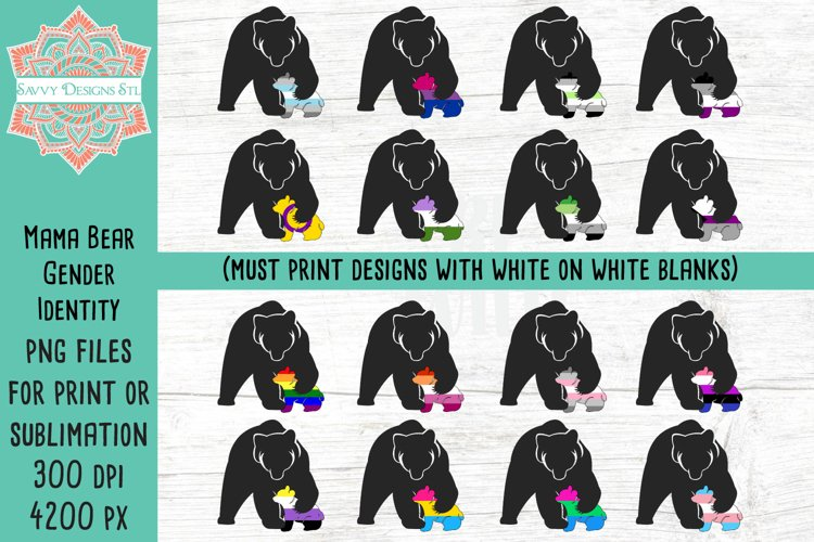 Mama Bear Gender Identity Flag Sublimation Bundle