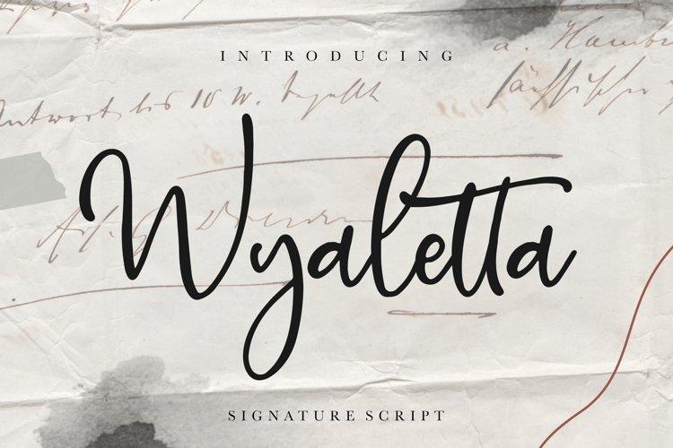 Wyaletta Signature Script example image 1