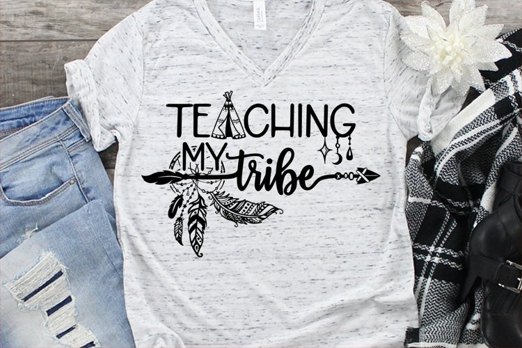 Teaching My Tribe SVG DXF PNG example image 1