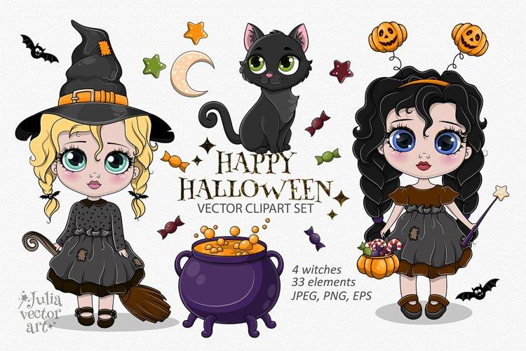Happy Halloween - vector clipart set