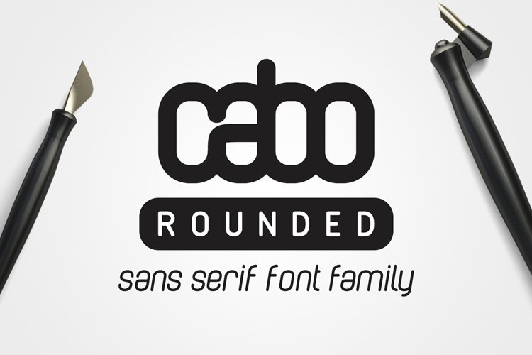 Cabo Rounded Font Family example image 1