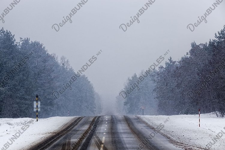 narrow winter road example image 1