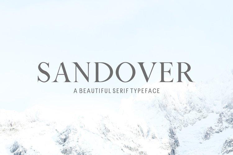Sandover Serif Font Family example image 1