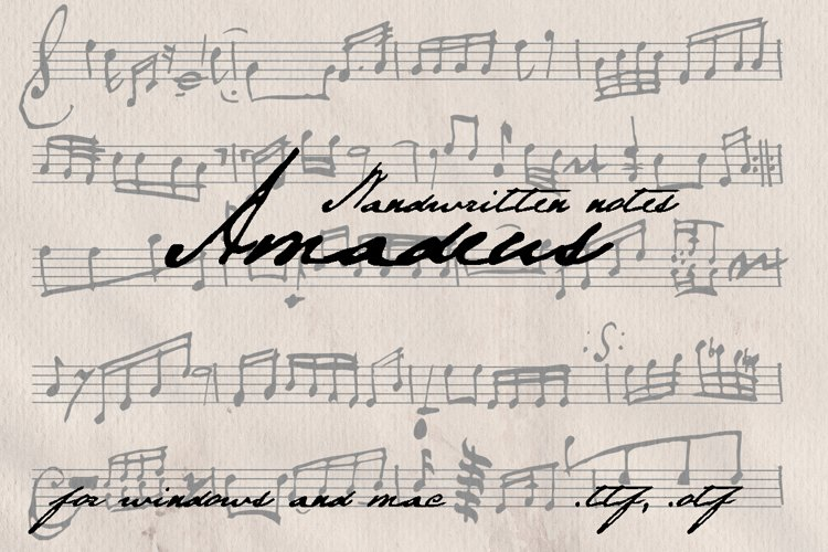 Amadeus. Handwritten notes example image 1