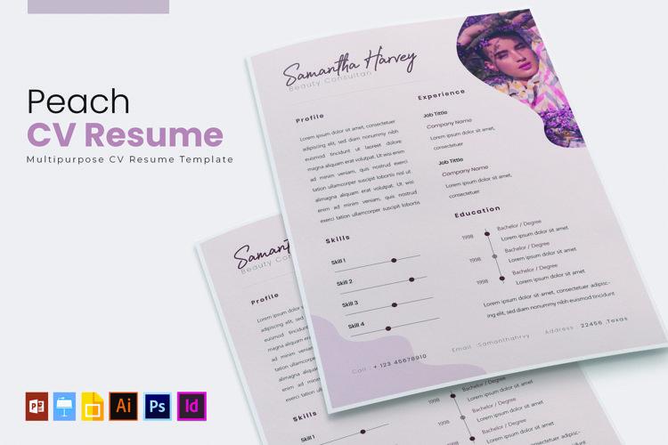 Peach | CV & Resume example image 1