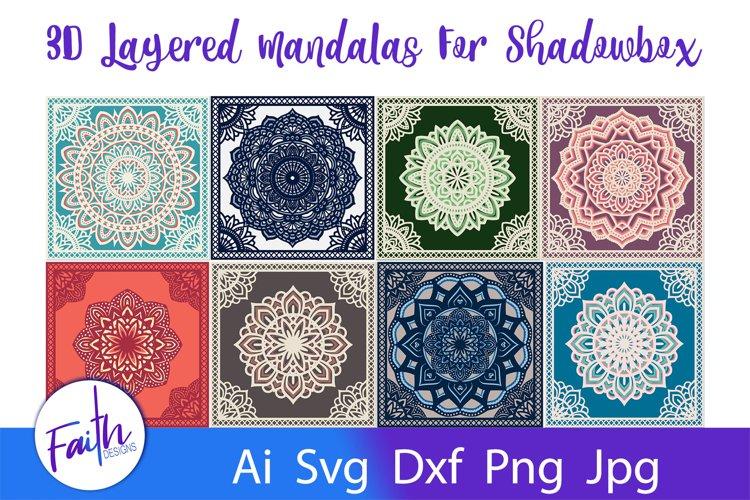 3D Layered Mandalas For Shadowbox Svg Cut Files example image 1