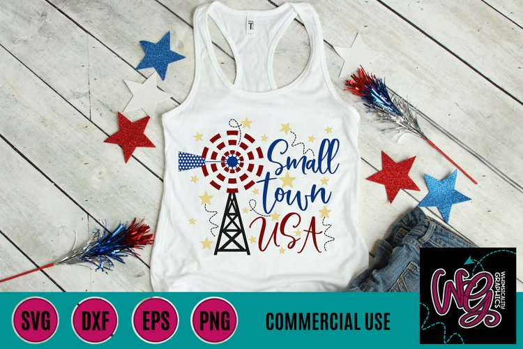 Small Town USA Windmill SVG DXF PNG EPS Comm