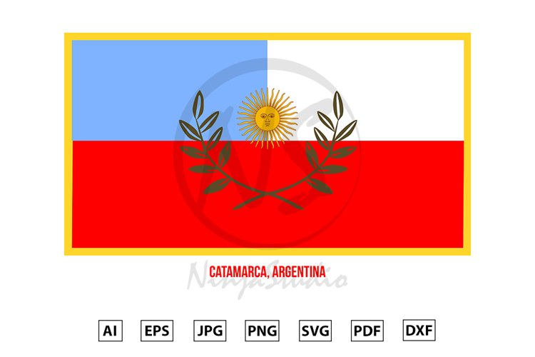 Catamarca Flag Vector. Flag of Argentina Provinces example image 1