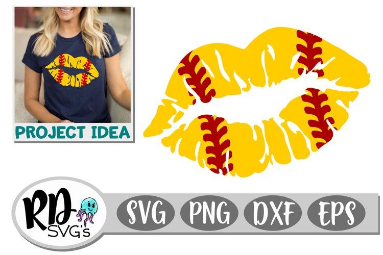 Softball Lips - A Sports Cricut Cut File example image 1