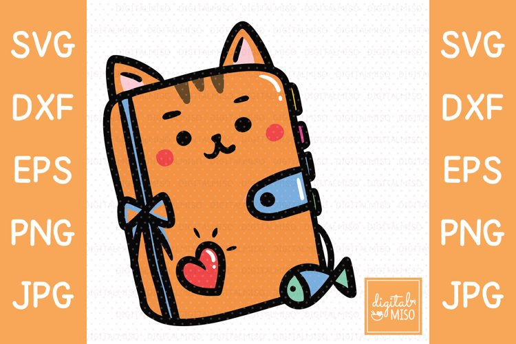 Planner Cat SVG - Animal Vector example image 1