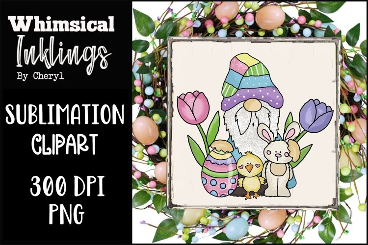 Easter Pal Gnome Sublimation Clipart example image 1