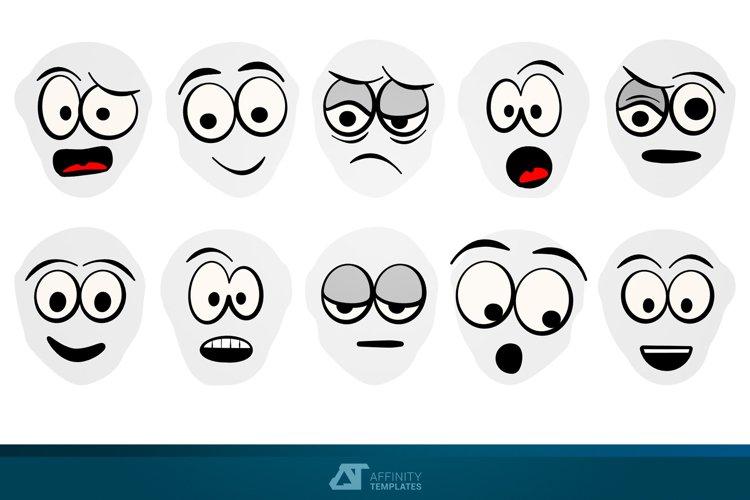 Cartoon Faces Comics AD Vectors example image 1
