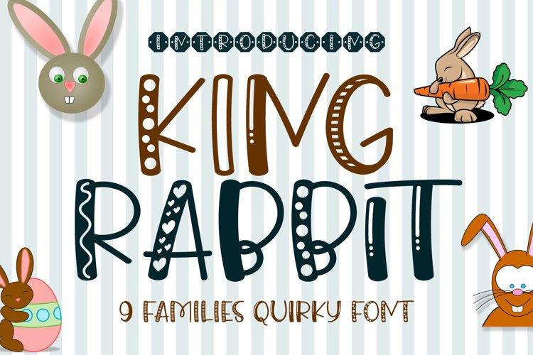 King Rabbit - 9 Styles Fun Playful Font example image 1