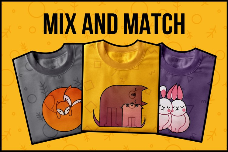 Animal Hugs Bundle - Illustrations and patterns example 2