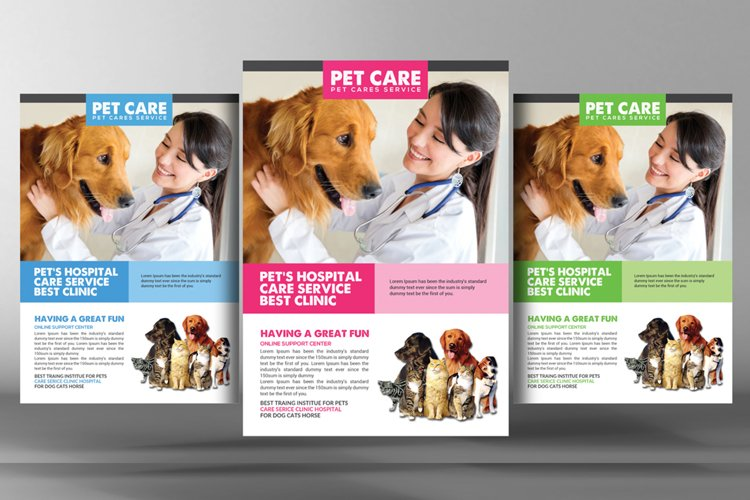 Dog Kennel & Pet Day Care Flyer example image 1
