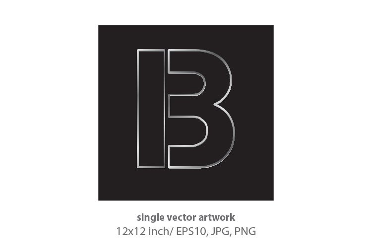 industrial letter b - single vector artwork example image 1