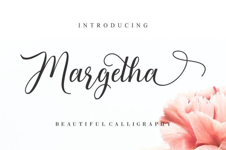 Margetha Beautiful Calligraphy example image 1