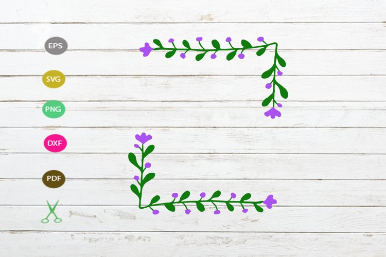 flower border svg cut file,flower floral svg,desoration svg