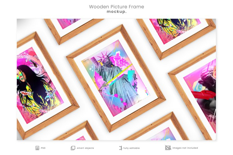 Wooden Picture Frame Mockup example image 1