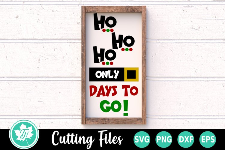 Christmas SVG   Christmas Sign SVG   Christmas Countdown SVG example image 1
