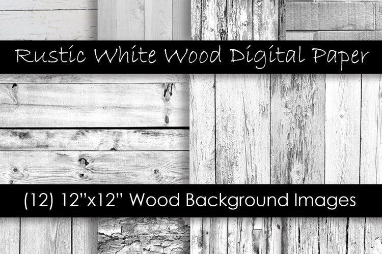 Rustic White Wood Textures - White Wood Backgrounds example image 1