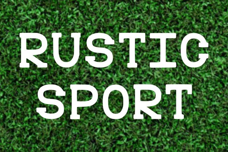 Rustic Serif Font Varsity Team Game Typeface College