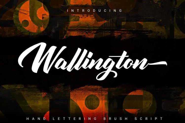 Wallington | Hand Lettering Brush Script example image 1