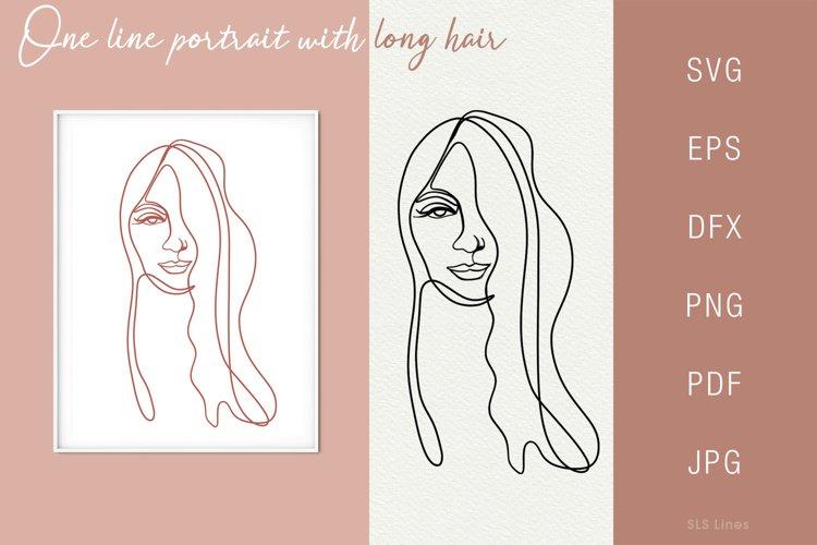 One line portrait illustration SVG PNG Face 3 example image 1