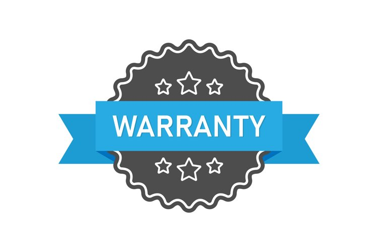 Warranty icon. Guarantee sign with ribbon and stars example image 1
