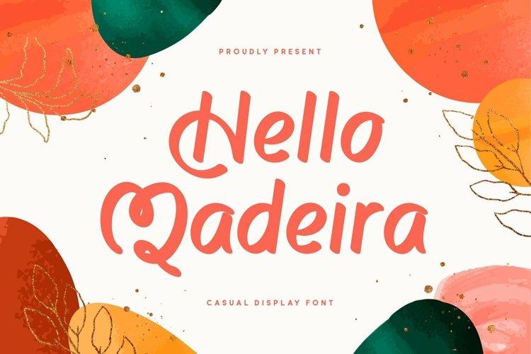 Web Font Madeira example image 1