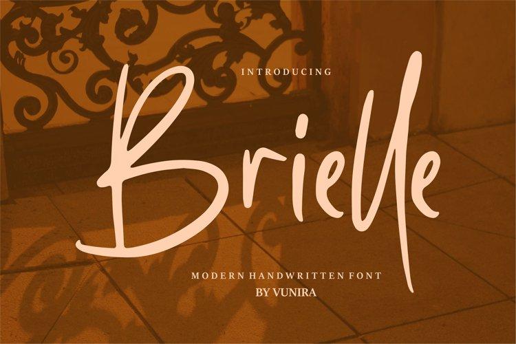 Brielle   Modern Handwritten Font example image 1