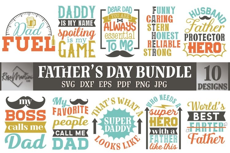 Fathers Day Bundle SVG 10 designs Fathers Day SVG