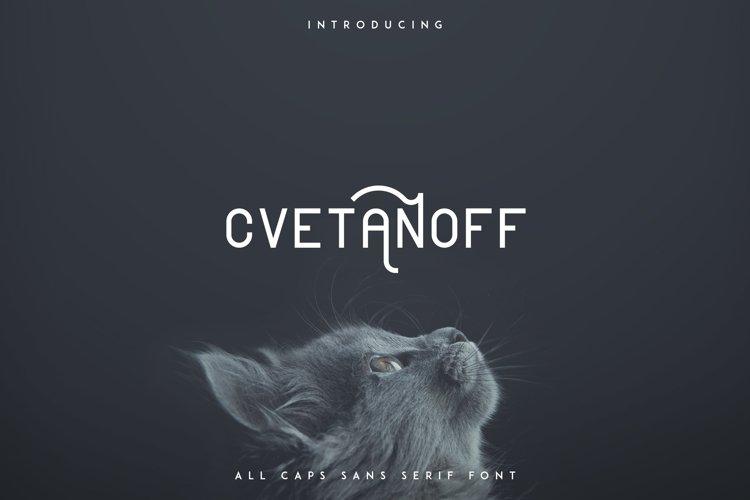Cvetanoff Sans Serif example image 1